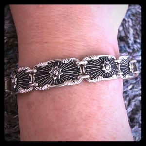 Vintage Art Deco Designer Sterling Silver Bracelet